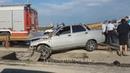 На профсоюзном мосту в Тюмени прошило насквозь ВАЗ 2112