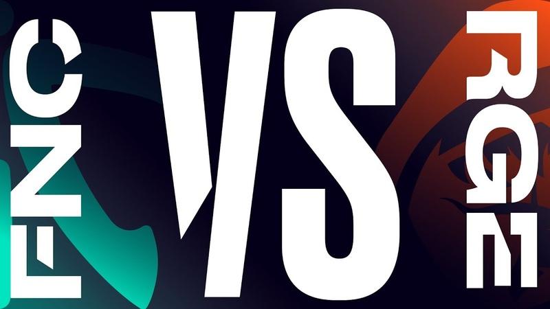 FNC vs. RGE Week 7 Day 2 LEC Spring Split Fnatic vs. Rogue 2019