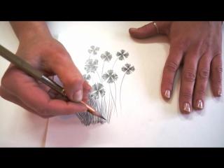 Как нарисовать полевые цветы простым карандашом