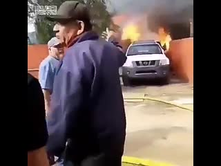 Man risks his life to save his dog from burning house