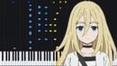 Vital - Satsuriku no Tenshi (Opening) [Piano Tutorial] (Synthesia) PianoPrinceOfAnime