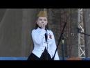 Вероничка выступала с песней В землянке на 9 мая Парк Сосновый бор