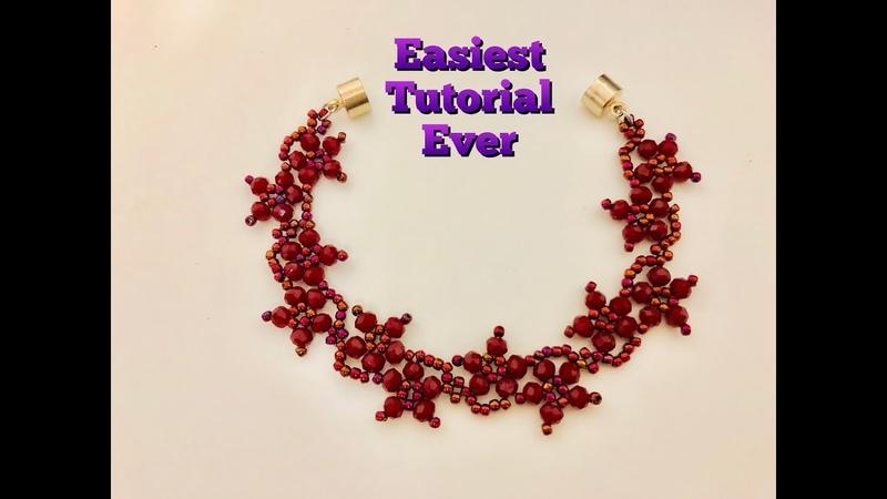 Blossom Beaded Bracelet 💞 Clear Easy Tutorial. Anybody can make it..💞