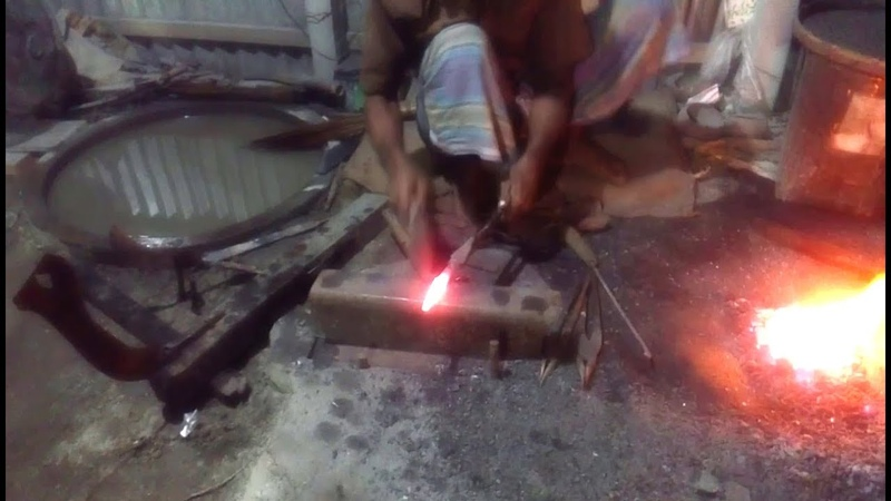 Primitive Technology | Blacksmithing | See How Hardly BD Blacksmith Made Spear in Forge By Manually.
