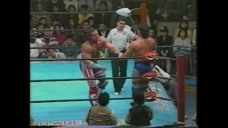 1993.03.25 - Davey Boy Smith vs. Dan Kroffat [FINISH]