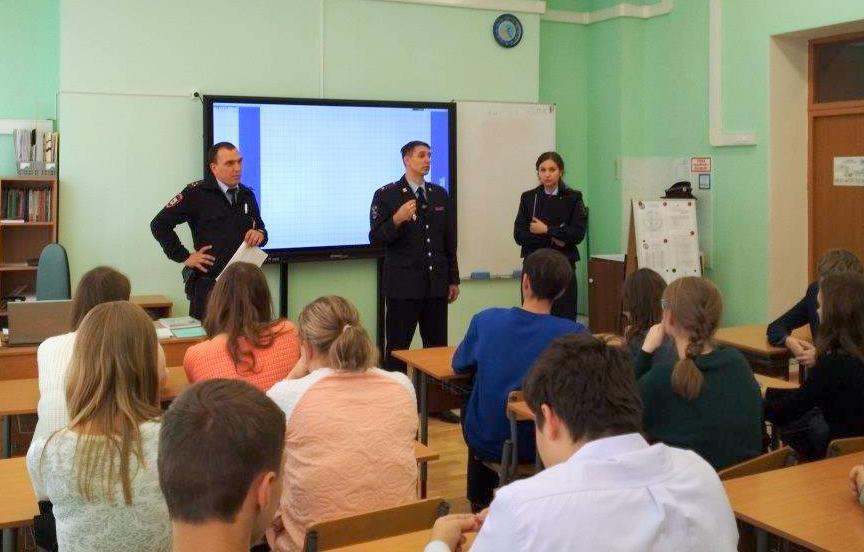 Главный участковый Савеловского встретился со школьниками
