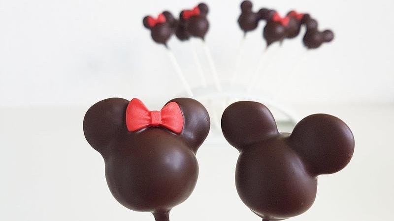 Einfache Minnie Micky Maus Cake Pops / Minnie Mickey Mouse Cake Pops
