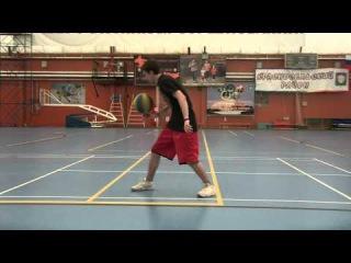 Кручение на пальце баскетбольного мяча (АТВ) без вовнутрь без подкручивания