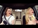 Sophie Turner and Maisie Williams in