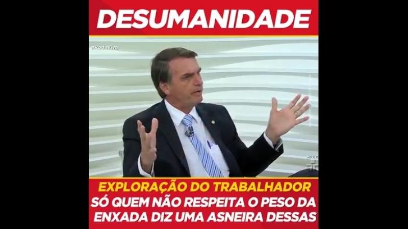 Bolsonaro - DESRESPEITO AOS TRABALHADORES DO CAMPO