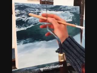 Процесс работы над морским пейзажем (speedpaint)