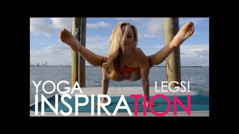 Kino Yoga Both Legs Behind the Head: Dwi Pada Demo at The Standard Hotel Miami