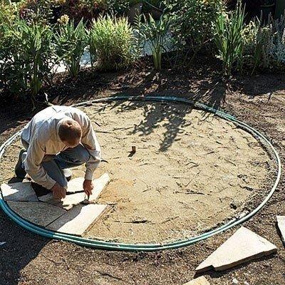 Как сделать площадку для отдыха на даче