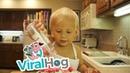 Cutest 2-Year-Old Cake Baker || VIralHog