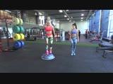 Женя и Алина: Тренировка с помощью платформы босу