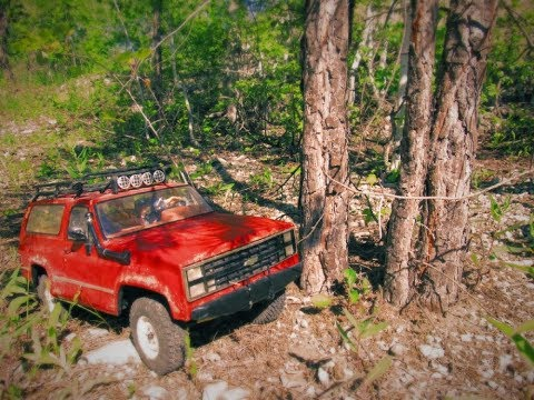 AudioSync blazer K5 rocky RC adventure, fast riding through the forest