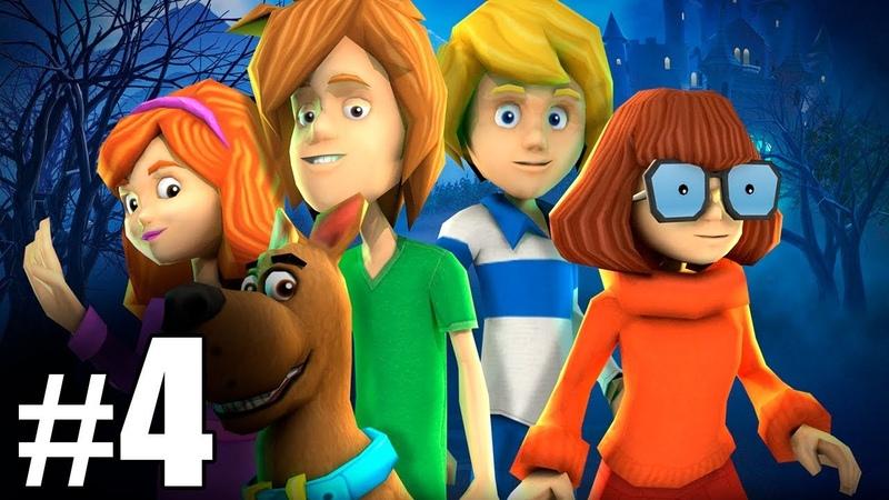 4 Обзор и летсплей по игре Скуби Ду Зловещий замок Letsplay game Scooby Doo First Frights