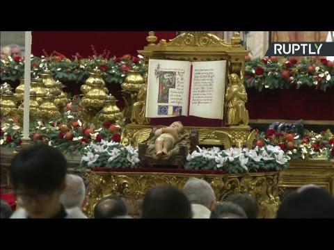 Католическая рождественская месса Папы Римского в Ватикане