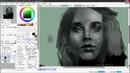 Speedpaint (Paint Tool Sai 2) Портрет девушки
