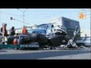 «ГАЗ» и мотоцикл не поделили перекрёсток