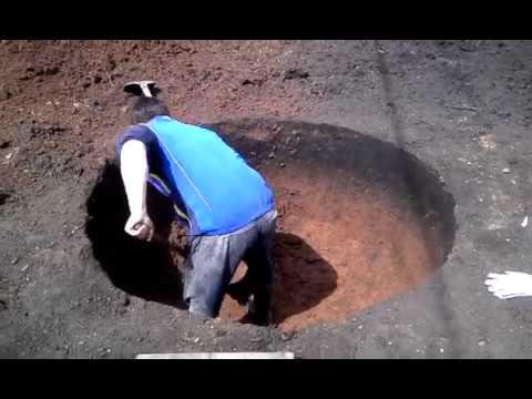 Копка переливной ямы Кольца 1 5 метра внутр диаметр