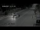 Ангел спас девушку,переходящую через дорогу