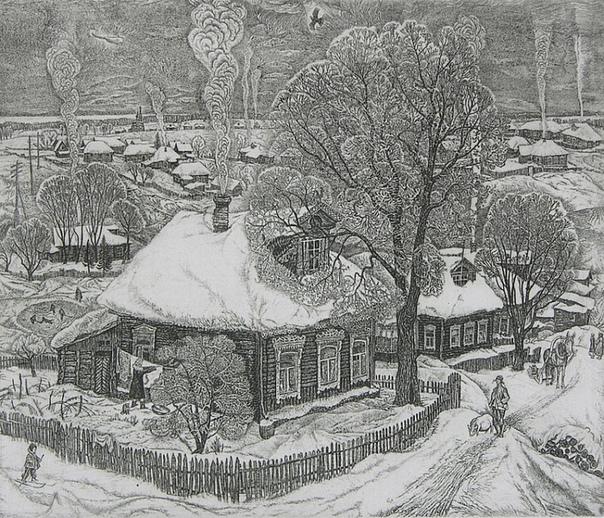 Станислав Михайлович Никиреев (7 ноября 1932 - 2007 гг). Зима.