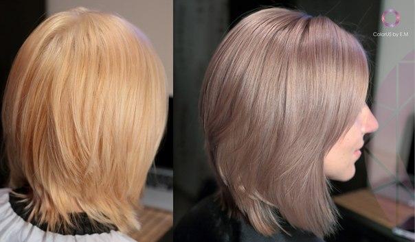 Перламутрово-бежевый цвет волос