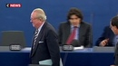 Jean-Marie Le Pen fait ses adieux au Parlement européen et à la vie politique