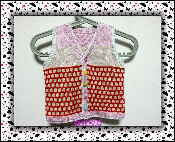 детская жилетка спицами (10 фото) - картинка