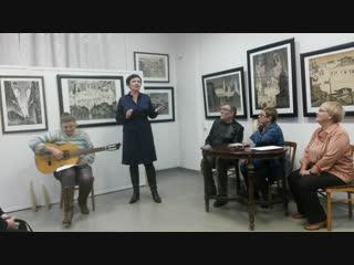 открытие выставки В. Едемского в мемориальном музее А.В. Пантелеева