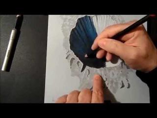 Поэтапный мастер класс, как нарисовать 3d рисунок на бумаге
