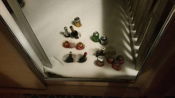 Русский способ охладить пиво :)