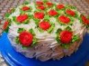 Шоколадно бисквитный ТОРТ со СЛИВОЧНЫМ кремом Очень ВКУСНЫЙ и СОЧНЫЙ торт Рецеп