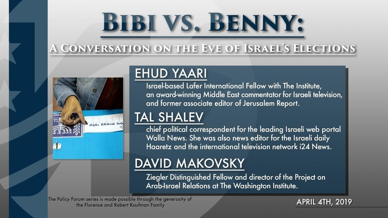 Bibi vs. Benny A Conversation on the Eve of Israels Elections