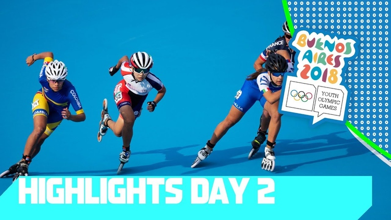 Break Dance debut 2 x gold for Colombia in Speed Skating YOG 2018 Day 2 Top Moments