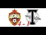 ЦСКА - Торпедо 4 - 1 -обзор голов, опасные моменты