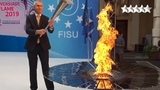 The Universiade Flame has started in Torino, Italy a couple of minutes ago!