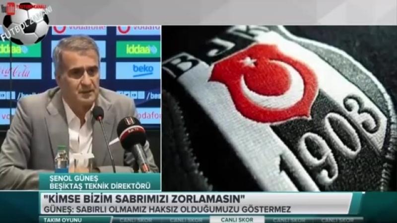 """ŞENOL GÜNEŞ BASIN TOPLANTISI """"BEŞİKTAŞI BIRAKMIYORUM BURDAYIM"""""""