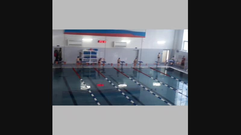 1 место 50 метров 43.08 сек.