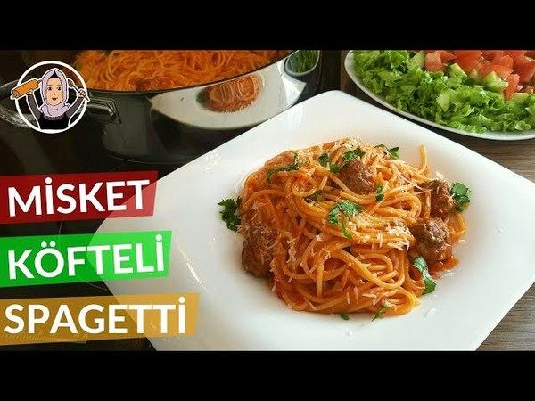 Misket Köfteli Spagetti Tarifi Salçalı domates soslu Hatice Mazı ile Yemek Tarifleri