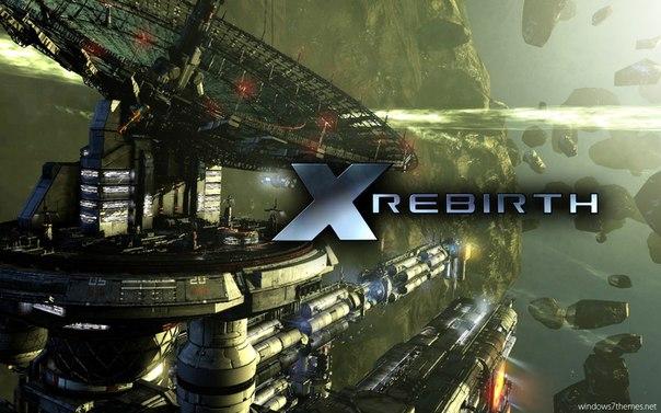 X Rebirth logo, coverart, логотип, картинка