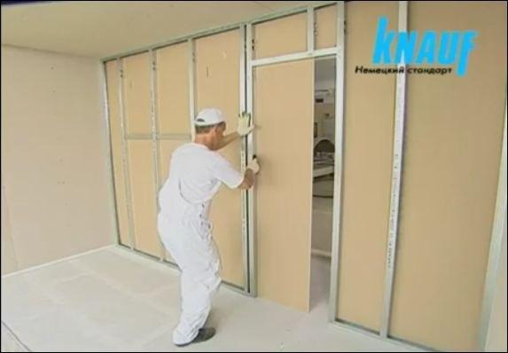 Как сделать дверной проем из гипсокартона профилем
