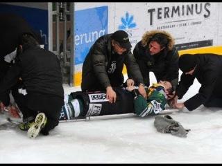 После этого силового приёма талантливый хоккеист стал инвалидом!
