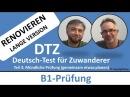 Deutsch lernen B1 Prüfung DTZ mündliche Prüfung Renovieren gemeinsam etwas planen