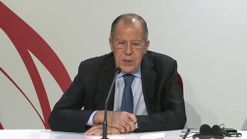 Пресс конференция Сергей Лавров по итогам СМИД ОБСЕ в Милане
