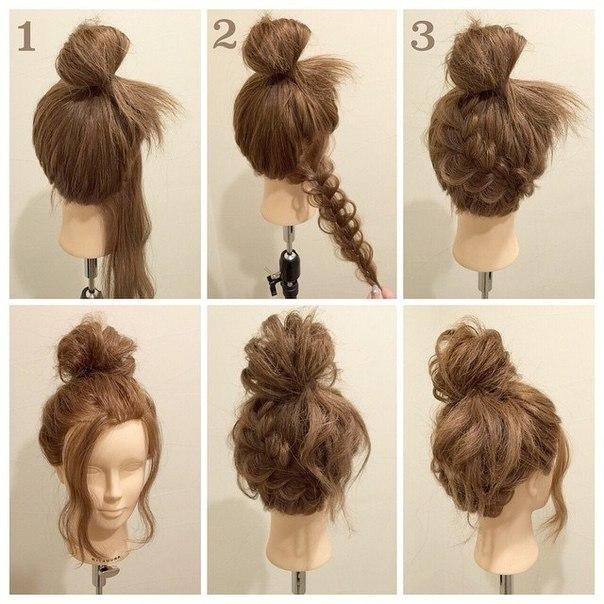 Как сделать красивую пучок из волос на голове