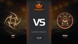 NiP vs ENCE, map 1 overpass, Europe Minor FACEIT Major 2018