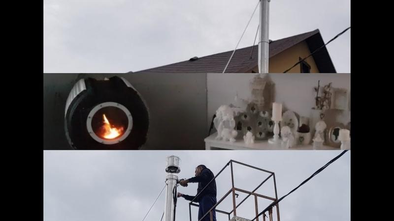 Как делать монтаж дымохода в стену? Фиксация каждого шага. Пример монтажа лучшего булерьяна Bulyru