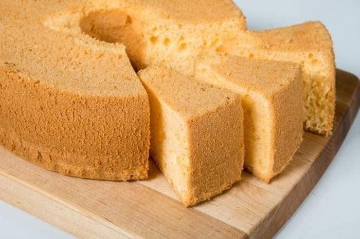Шифоновый бисквит Ингредиенты: 110 г сахара 4 яйца некрупных (3